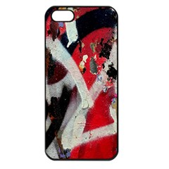 Abstract Graffiti Background Wallpaper Of Close Up Of Peeling Apple iPhone 5 Seamless Case (Black)
