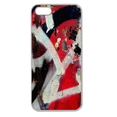 Abstract Graffiti Background Wallpaper Of Close Up Of Peeling Apple Seamless Iphone 5 Case (clear)