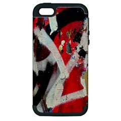 Abstract Graffiti Background Wallpaper Of Close Up Of Peeling Apple iPhone 5 Hardshell Case (PC+Silicone)