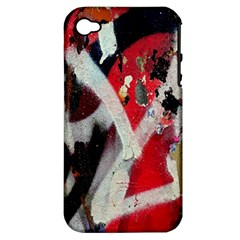 Abstract Graffiti Background Wallpaper Of Close Up Of Peeling Apple Iphone 4/4s Hardshell Case (pc+silicone)