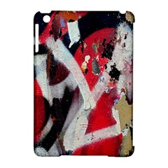 Abstract Graffiti Background Wallpaper Of Close Up Of Peeling Apple iPad Mini Hardshell Case (Compatible with Smart Cover)