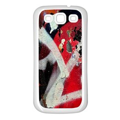 Abstract Graffiti Background Wallpaper Of Close Up Of Peeling Samsung Galaxy S3 Back Case (White)