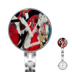 Abstract Graffiti Background Wallpaper Of Close Up Of Peeling Stainless Steel Nurses Watch