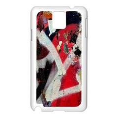 Abstract Graffiti Background Wallpaper Of Close Up Of Peeling Samsung Galaxy Note 3 N9005 Case (White)
