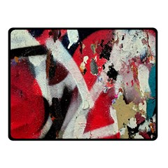 Abstract Graffiti Background Wallpaper Of Close Up Of Peeling Double Sided Fleece Blanket (Small)