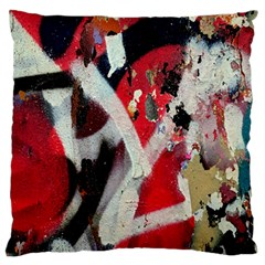 Abstract Graffiti Background Wallpaper Of Close Up Of Peeling Large Flano Cushion Case (one Side)
