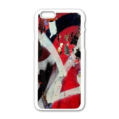 Abstract Graffiti Background Wallpaper Of Close Up Of Peeling Apple iPhone 6/6S White Enamel Case