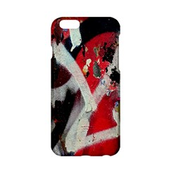 Abstract Graffiti Background Wallpaper Of Close Up Of Peeling Apple iPhone 6/6S Hardshell Case