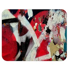 Abstract Graffiti Background Wallpaper Of Close Up Of Peeling Double Sided Flano Blanket (Medium)