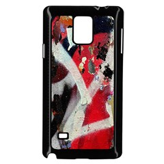 Abstract Graffiti Background Wallpaper Of Close Up Of Peeling Samsung Galaxy Note 4 Case (Black)