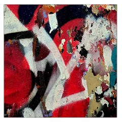 Abstract Graffiti Background Wallpaper Of Close Up Of Peeling Large Satin Scarf (square)