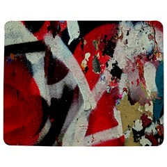 Abstract Graffiti Background Wallpaper Of Close Up Of Peeling Jigsaw Puzzle Photo Stand (Rectangular)