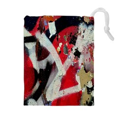 Abstract Graffiti Background Wallpaper Of Close Up Of Peeling Drawstring Pouches (extra Large)