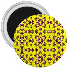 Yellow Seamless Wallpaper Digital Computer Graphic 3  Magnets