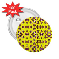 Yellow Seamless Wallpaper Digital Computer Graphic 2 25  Buttons (100 Pack)