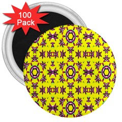 Yellow Seamless Wallpaper Digital Computer Graphic 3  Magnets (100 pack)