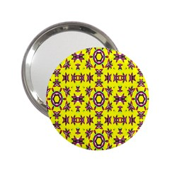 Yellow Seamless Wallpaper Digital Computer Graphic 2 25  Handbag Mirrors