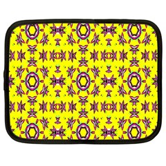 Yellow Seamless Wallpaper Digital Computer Graphic Netbook Case (Large)