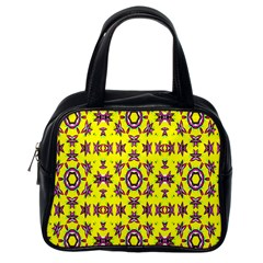 Yellow Seamless Wallpaper Digital Computer Graphic Classic Handbags (one Side)