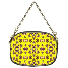 Yellow Seamless Wallpaper Digital Computer Graphic Chain Purses (Two Sides)