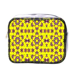 Yellow Seamless Wallpaper Digital Computer Graphic Mini Toiletries Bags