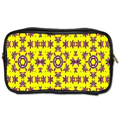 Yellow Seamless Wallpaper Digital Computer Graphic Toiletries Bags 2-Side