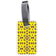 Yellow Seamless Wallpaper Digital Computer Graphic Luggage Tags (One Side)