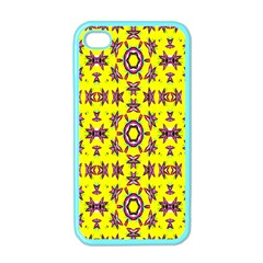 Yellow Seamless Wallpaper Digital Computer Graphic Apple iPhone 4 Case (Color)