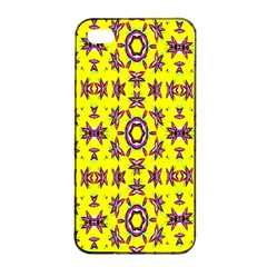 Yellow Seamless Wallpaper Digital Computer Graphic Apple Iphone 4/4s Seamless Case (black)