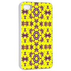Yellow Seamless Wallpaper Digital Computer Graphic Apple iPhone 4/4s Seamless Case (White)