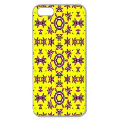 Yellow Seamless Wallpaper Digital Computer Graphic Apple Seamless Iphone 5 Case (clear)