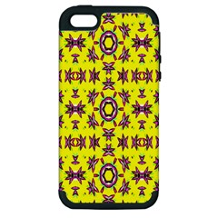 Yellow Seamless Wallpaper Digital Computer Graphic Apple iPhone 5 Hardshell Case (PC+Silicone)