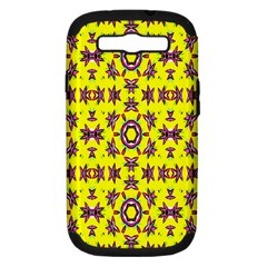 Yellow Seamless Wallpaper Digital Computer Graphic Samsung Galaxy S III Hardshell Case (PC+Silicone)