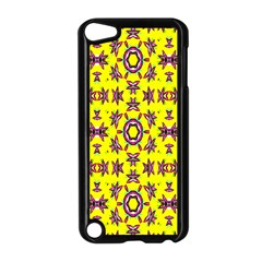 Yellow Seamless Wallpaper Digital Computer Graphic Apple Ipod Touch 5 Case (black)