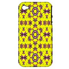 Yellow Seamless Wallpaper Digital Computer Graphic Apple iPhone 4/4S Hardshell Case (PC+Silicone)