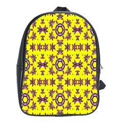 Yellow Seamless Wallpaper Digital Computer Graphic School Bags (xl)