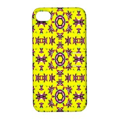 Yellow Seamless Wallpaper Digital Computer Graphic Apple iPhone 4/4S Hardshell Case with Stand