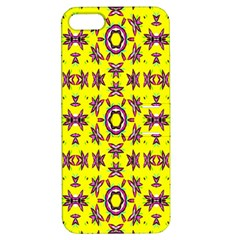 Yellow Seamless Wallpaper Digital Computer Graphic Apple iPhone 5 Hardshell Case with Stand