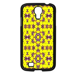 Yellow Seamless Wallpaper Digital Computer Graphic Samsung Galaxy S4 I9500/ I9505 Case (Black)