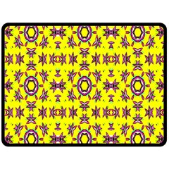 Yellow Seamless Wallpaper Digital Computer Graphic Double Sided Fleece Blanket (Large)