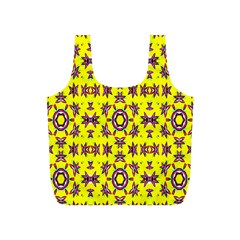 Yellow Seamless Wallpaper Digital Computer Graphic Full Print Recycle Bags (S)