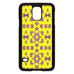 Yellow Seamless Wallpaper Digital Computer Graphic Samsung Galaxy S5 Case (Black)