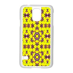 Yellow Seamless Wallpaper Digital Computer Graphic Samsung Galaxy S5 Case (white)