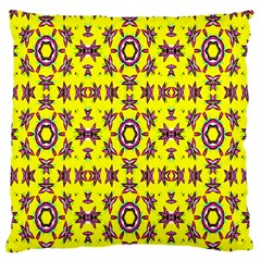 Yellow Seamless Wallpaper Digital Computer Graphic Large Flano Cushion Case (two Sides)