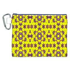 Yellow Seamless Wallpaper Digital Computer Graphic Canvas Cosmetic Bag (XXL)