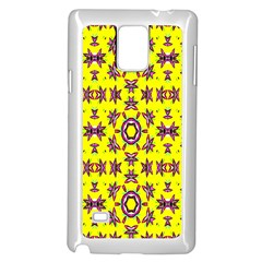 Yellow Seamless Wallpaper Digital Computer Graphic Samsung Galaxy Note 4 Case (white)