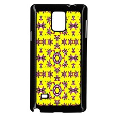Yellow Seamless Wallpaper Digital Computer Graphic Samsung Galaxy Note 4 Case (Black)