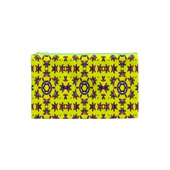 Yellow Seamless Wallpaper Digital Computer Graphic Cosmetic Bag (xs)
