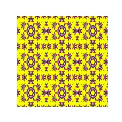 Yellow Seamless Wallpaper Digital Computer Graphic Small Satin Scarf (square)
