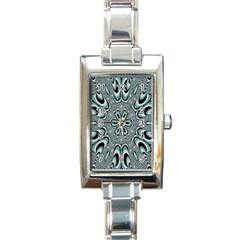 Kaleidoskope Digital Computer Graphic Rectangle Italian Charm Watch